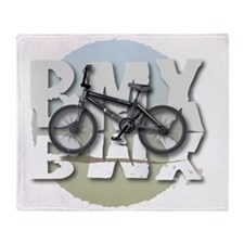 BMX GRAPHITE CIRCLE Throw Blanket