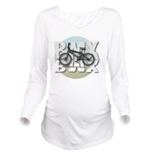 BMX GRAPHITE CIRCLE Long Sleeve Maternity T-Shirt