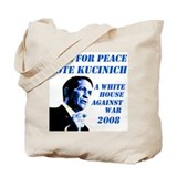 Vote Peace Vote Kucinich Tote Bag
