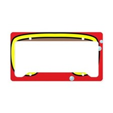 goggle_flipflop_red_N License Plate Holder