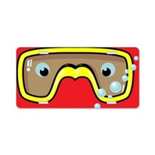 goggle_flipflop_red_N Aluminum License Plate