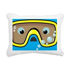 goggle_mpad_blue_N Rectangular Canvas Pillow