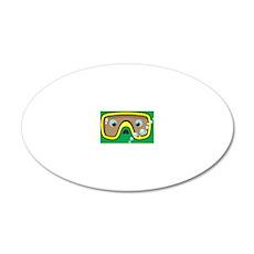 goggle_mpad_green_N 20x12 Oval Wall Decal