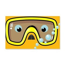 goggle_mpad_orange_N Wall Decal