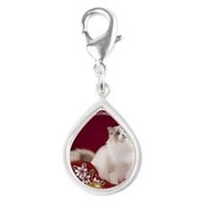LindenRound Ornament Silver Teardrop Charm
