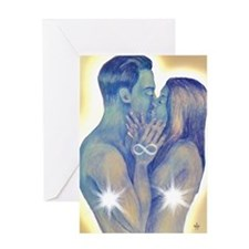 TwinFlames-bluesouls Greeting Card
