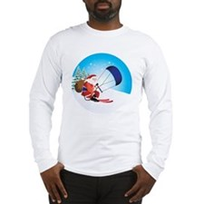 Santa Snowkite Ski Ornament Long Sleeve T-Shirt