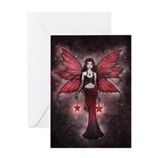 crimson star digital cp Greeting Card