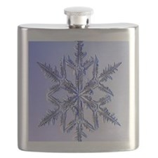 Holiday ornament round snowflake 2 Flask