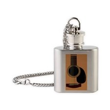 acousticguitar_MensWallet Flask Necklace