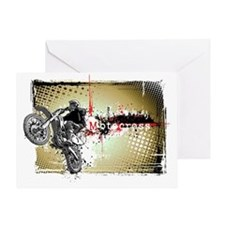 Motocross Puzzle 3 Greeting Card
