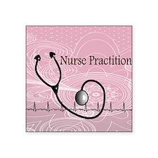 "RN nurse practitioner Square Sticker 3"" x 3"""