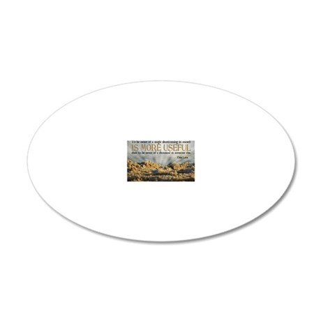 Shortcoming Quote on Jigsaw  20x12 Oval Wall Decal