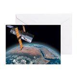 Space christmas card Greeting Cards (10 Pack)
