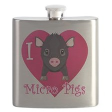 Micropig_N_black Flask