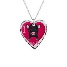Micropig_N_black Necklace