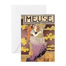 Art Nouveau - Bieres de la Meuse Greeting Card
