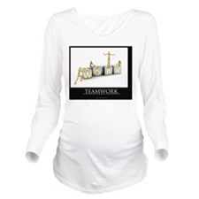 teamwork_mannequins_ Long Sleeve Maternity T-Shirt