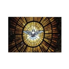 Dove Window at St Peters Basilica Rectangle Magnet