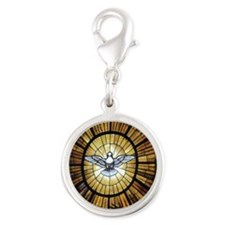 Dove Window at St Peters Basil Silver Round Charm