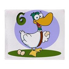 6 geese Throw Blanket