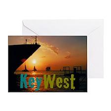 11.5x9at255SunsetShipKW Greeting Card