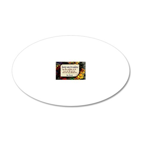 See Life Quote on Jigsaw Puz 20x12 Oval Wall Decal