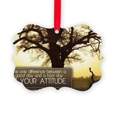 Good Day Quote on Jigsaw Puzzle Ornament