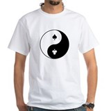 Zen Poker white t-shirt (art front & back)