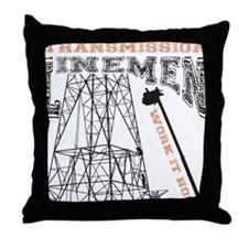 transmission tower Throw Pillow