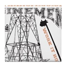 transmission tower Tile Coaster