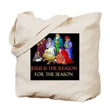 Christmas jesus is the reasond Tote Bag