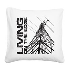 transmission tower edge 1 Square Canvas Pillow