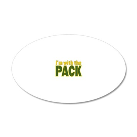 im-with-the-pack 20x12 Oval Wall Decal