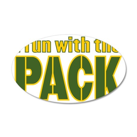 irun-with-the-pack 35x21 Oval Wall Decal