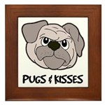 Pugs And Kisses Framed Tile