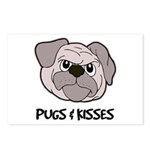 Pugs And Kisses Postcards (Package of 8)