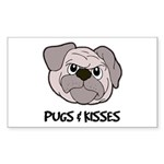 Pugs And Kisses Rectangle Sticker