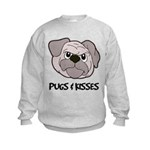 Pugs And Kisses Kids Sweatshirt