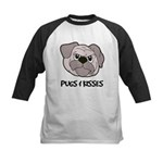 Pugs And Kisses Kids Baseball Jersey