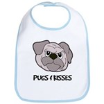 Pugs And Kisses Bib