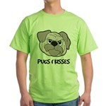 Pugs And Kisses Green T-Shirt