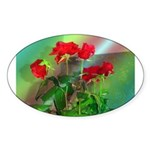 Roses Oval Sticker