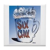 Unique Six chix Tile Coaster