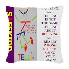 TATTLE TI. Woven Throw Pillow