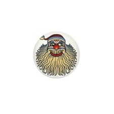 scary-clown-santa-T Mini Button