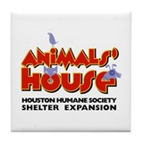 Animal's House Tile Coaster