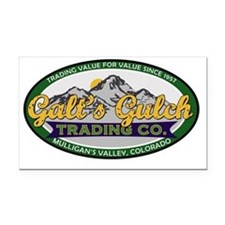 Galts Gulch Trading Co oval l Rectangle Car Magnet