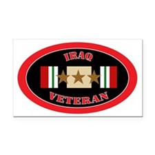 Iraq-3-oval Rectangle Car Magnet