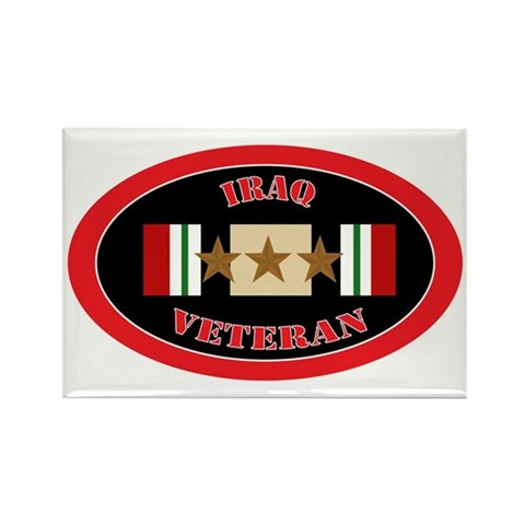 Iraq-3-oval Rectangle Magnet